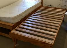 JOHN LEWIS QUALITY SINGLE BED W TRUCKLE UNDER