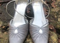 """K"" by Clarks Silver Evening Shoes UK 5.5"