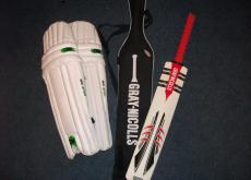 Cricket bat and pads - youths