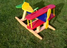 Wooden Toy Aeroplane Rocker