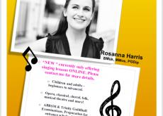Singing lessons ONLINE!