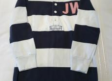 Jack Wills Navy and White Stripe Rugby Shirt