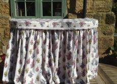 Pretty Kidney Shaped Dressing Table & Curtain