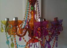 Funky coloured perspex chandeliere (in box)