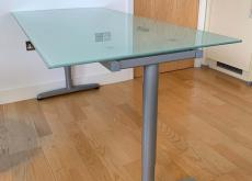Glass top desk/table x 2