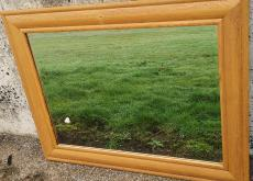 Oak framed Mirror solid  aged 94 cms X 124 cm