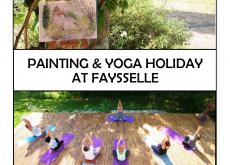 Painting and Yoga Week, S W France 27th May