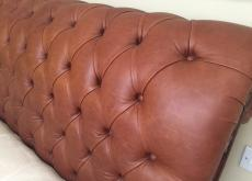 Superking Bonaparte Deep Button Leather Bed