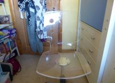 Swivel Chair Clear Perspex
