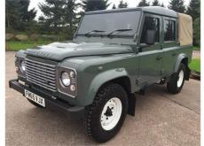 LAND ROVER 110 DOUBLE CAB CANVAS BACK