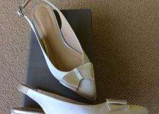 Ivory silk shoes