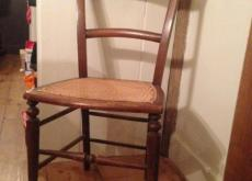 Edwardian Cane Seated Chair