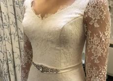 Stunning Bespoke Silk & Lace Wedding Dress