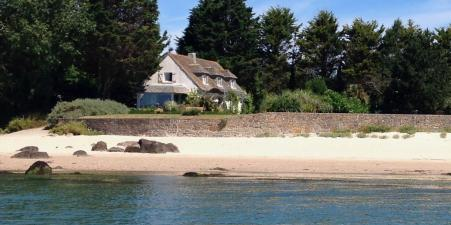 Superb beachfront house near St Vaast in Normandy