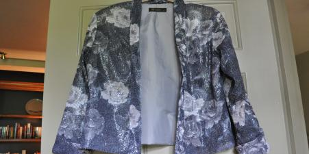 Rise Jacket floral sequins size 8 never worn