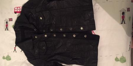 All Saints, Leather jacker, Black, Age 2-3