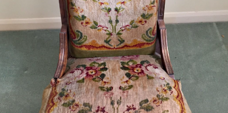 Beautiful Oak Chair great upholstering project