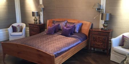 Antique style, solid cherry wood bed