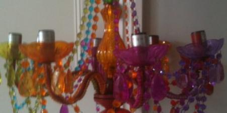 Funky coloured perspex chandeliere (brand new)