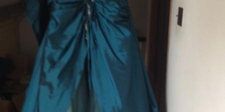 Strapless Jade Prom/Ball Dress with matching wrap