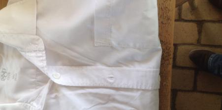 "Six white shirts long sleeves 15 1/2"" colla"