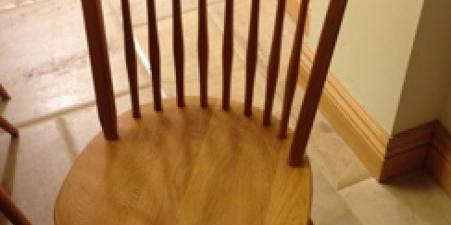 6  large pine dining chairs