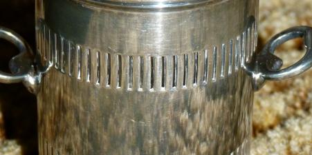 ?19th C silver-plated 2-handled toddy holder
