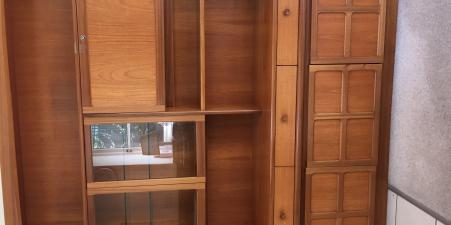 Display cabinet / sideboard in solid teak