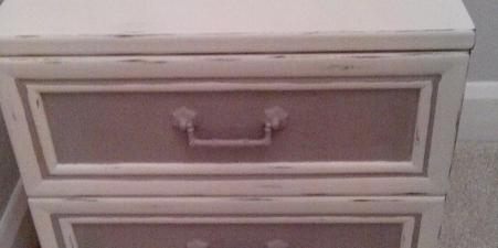 Shabby Chic Bedside Tables and Chest of Drawers