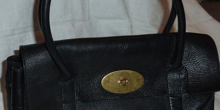 GENUINE MULBERRY BAYSWATER HANDBAG BLACK LEATHER