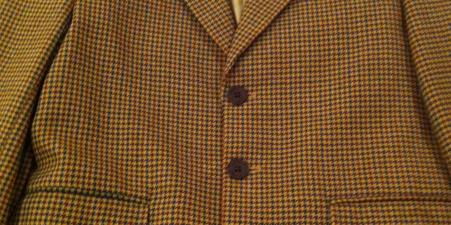 BOY's 100% WOOL HOUNDSTOOTH COUNTRY JACKET