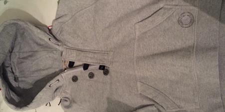 Burberry Grey Hooded Sweatshirt, Age 6