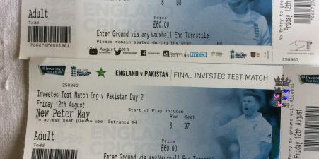 England v Pakistan Day 2 Friday 12th August