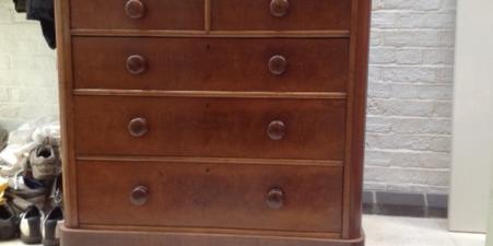 Chest of drawers - solid pine, deep drawers