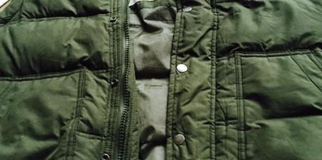 Hollister Green Gilet size small