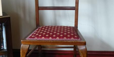 Mahogany occasional/bedroom chair