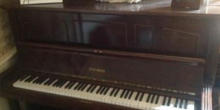 Justin Browne Upright Overstrung Piano For Sale